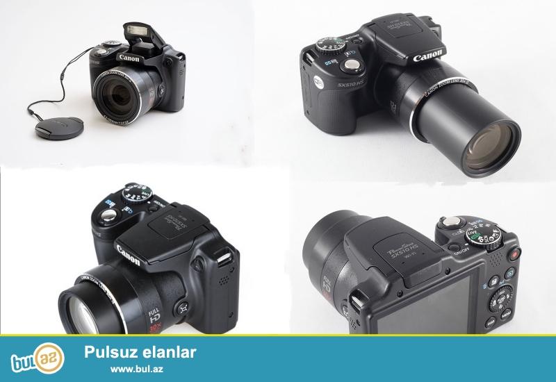 Canon sx510 markalı fotoaparat satılır, mağazalarda yenisi 299 azndi, 4 5 ay işlətmişəm həftədə 1-2 dəfə əla vəziyyətdədi, optik zoom 30x, 12 megapiksel, qırmızı göz düzəltməsi və daha 1 çox lazımlı funksiyası var, həvəskarlar üçün əladı, yenisini almışam deyə satıram qiymət 220 azn