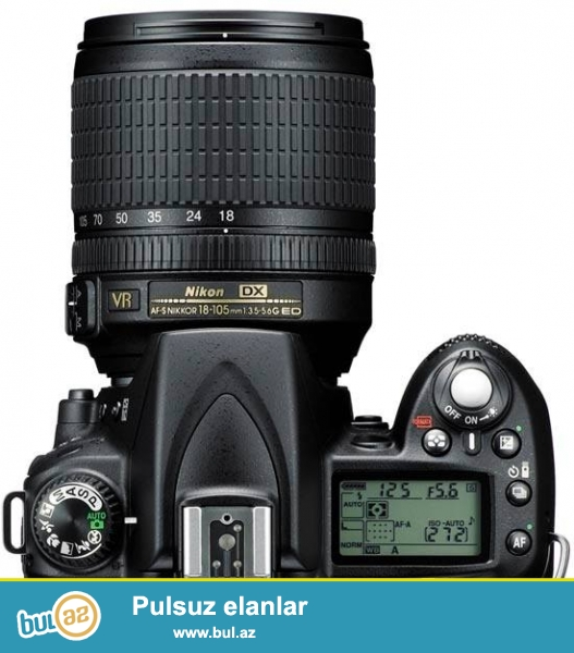 Nikon D90+ 18-105 obyektiv +blenda+ geniw sumqa+ 16gb kart <br /> adapdir mawin ucunde adapdir var <br /> Probeq 10 min yaxsi veziyetdedi hec bir problemi yoxdu <br /> Satiram ve ya CANONLA Barter edirem teklifleriniz qiymeti 440 azn<br /> (055) 966-77-21 whatsapp