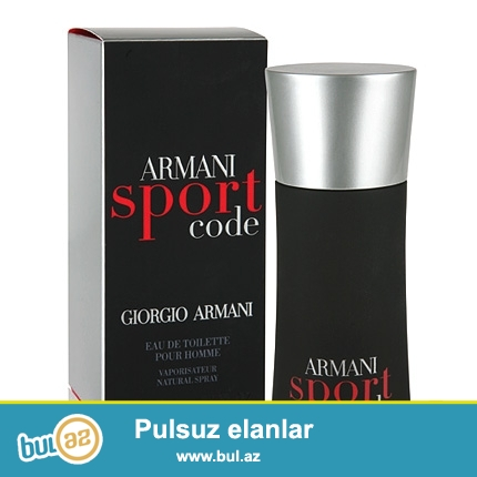 Armani Code Sprot men (edt)  75ml-75azn<br />