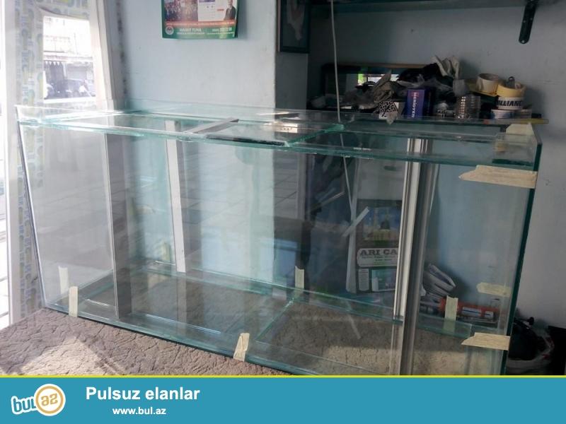 560litirlik akvarium Akvarium ölçüləri uzunluqu179sm...