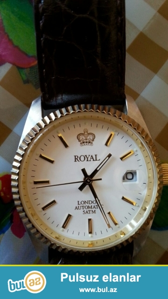 Royal firmasının saatını satıram. Fransadan alınıb.