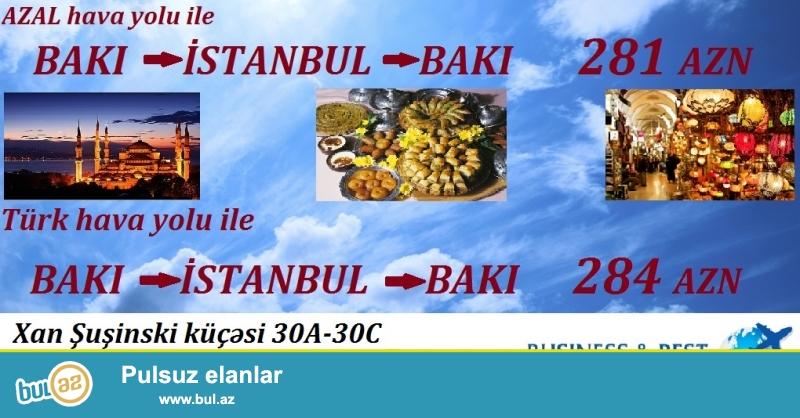 - AZAL hava yolu ile Bakıdan - İstanbula 20 İYUL...