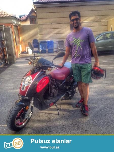 Jonway Spray scooter.<br />  Iki ay istifadə etmişəm...