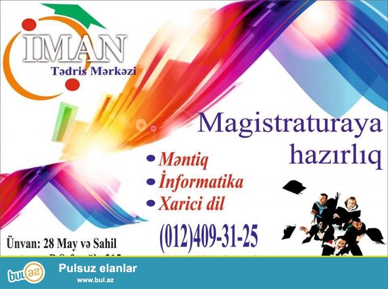 Magistr hazırlıq kursları. Məntiq, İnformatika,...