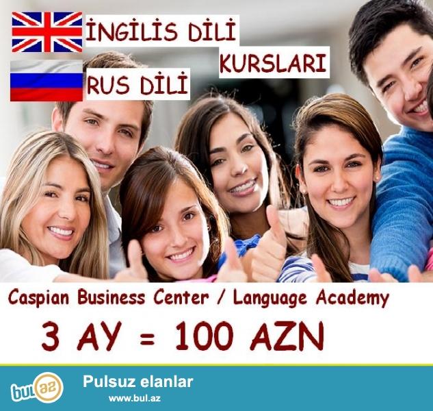 İngilis və Rus dili kursları. <br /> Dərslər...