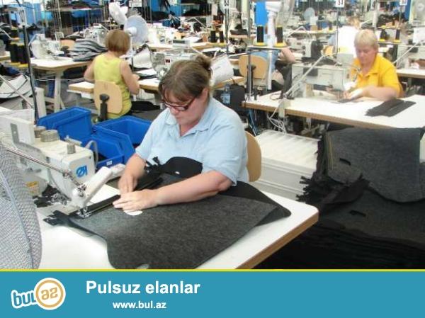Tekstile derzi xanimlar ise devet olunur.Yas 19-50