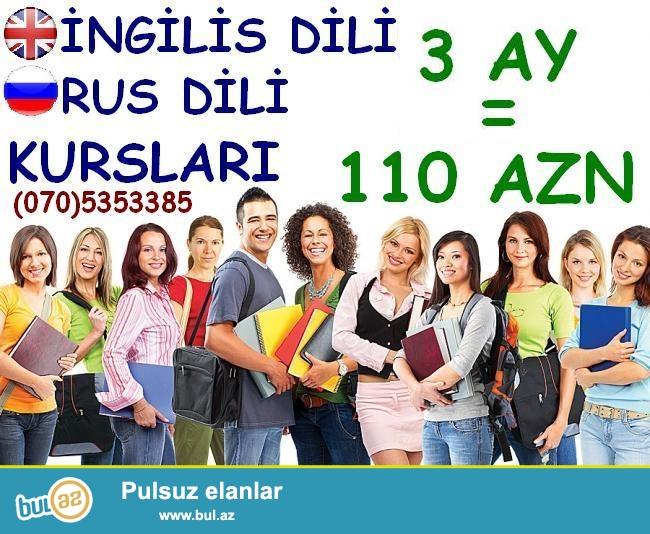 İngilis dili və Rus dili kursları. <br />\r\nKurslarımız...