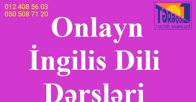 Online ingilis dili. General english dərsləri! Peşakar