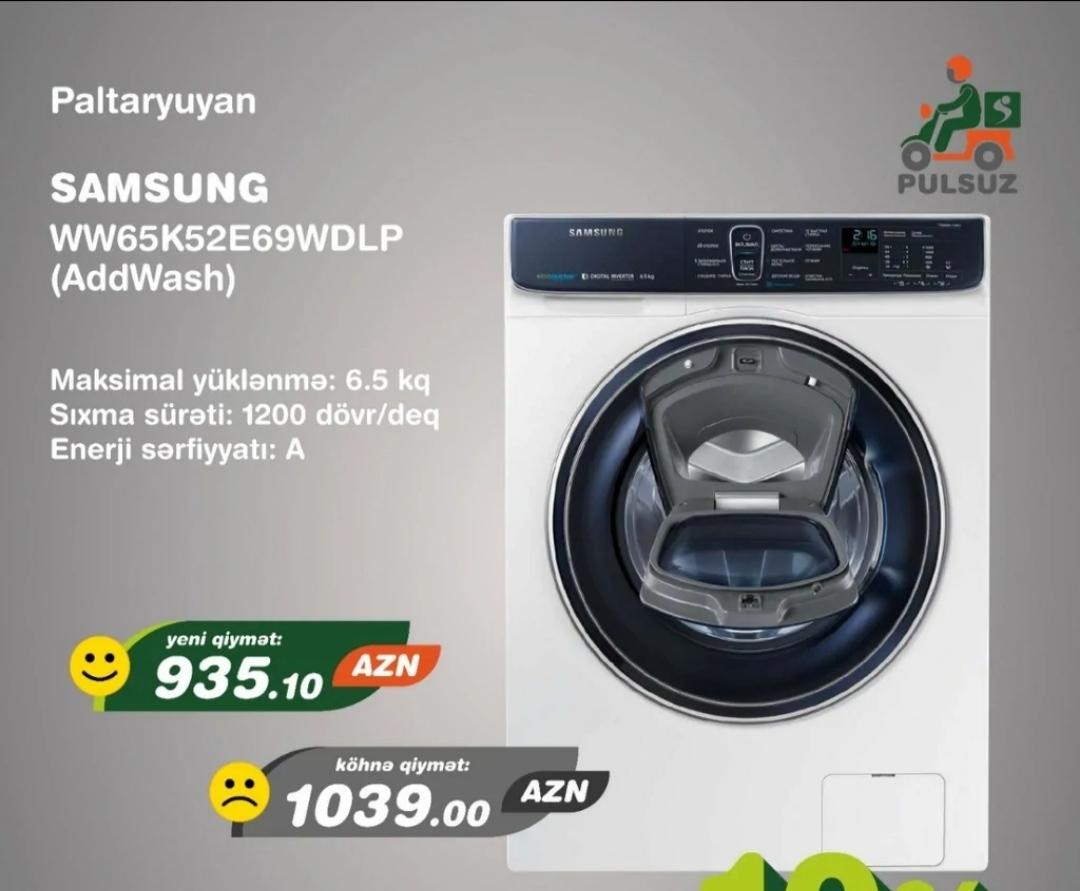 Paltaryuyan maşın Samsung Nağd endirimli qiymətlə ala