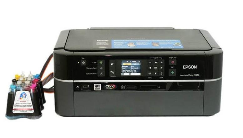 Printer Epson TX650 4-u birinde Printer, Skaner, Kseroks, Disk uzu capi, Heç bir problemi yoxdur. Çap etməyi işləməyi yüksək səviyyədədir. Təzə kimidir. Ev şəraitində işlənib.  SNPC ile bir yerde.