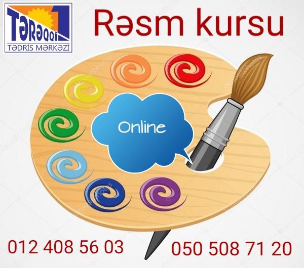 Online rəsm kursu Tərəqqi-1 Tədris Mərkəzi sizləri online