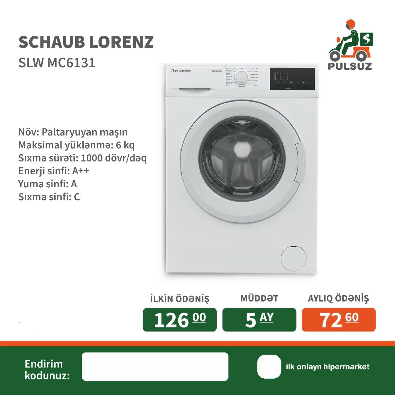 Paltaryuyan maşın Schaub Lorenz Maksimal yüklənmə: 6 kq