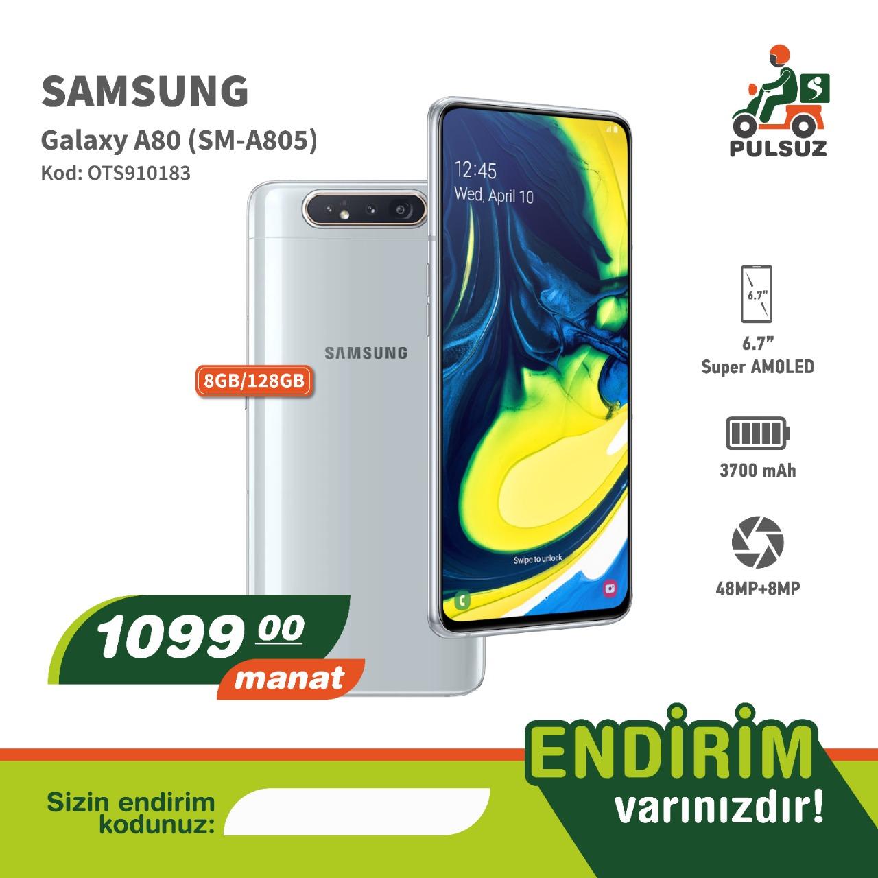 Samsung A80 1 Kartlada ala bilərsiz