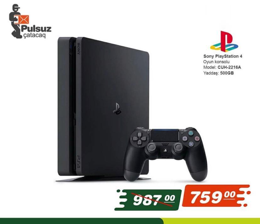 PlayStation4 Yaddaş: 500 GB Endirimli qiymətlə əldə etmək