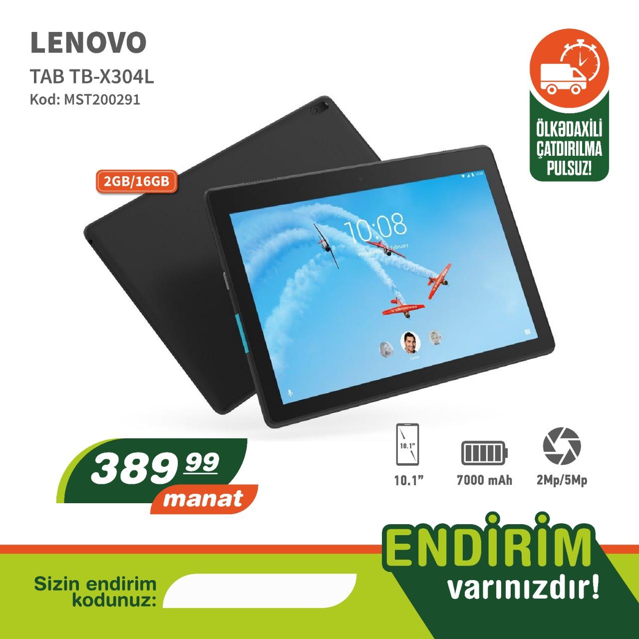 Tablet Lenovo (2/16 gb) ətraflı məlumat üçün Whatsapdan