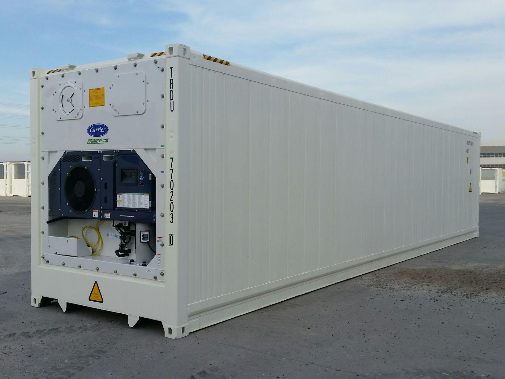 Hal-hazırda 40 ft-duq (12 m-lik) Soyuducu konteyner icarəyə