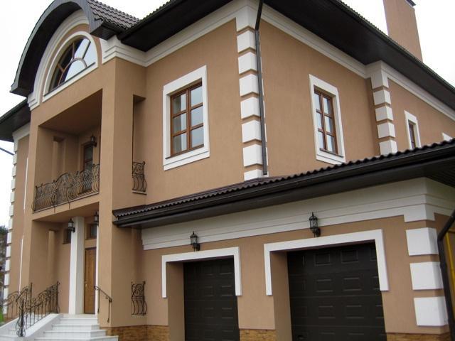 Evlərin villaların Binaların hasarların fasad hissələrinin
