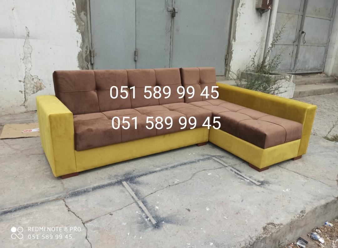 Kunc divanlar satilir 350 manat ve sifarisle tel 051 589 99