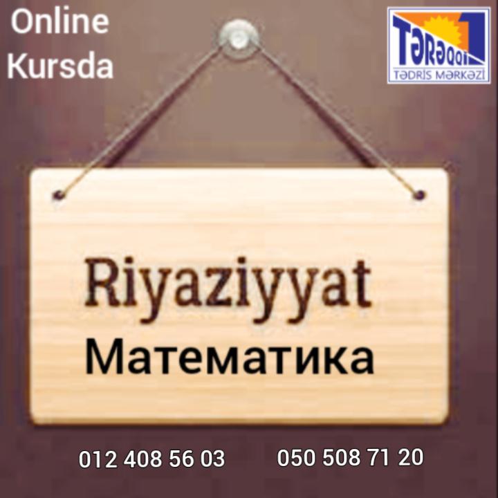 Riyaziyyat hazırlığı Kursda və online Bütün siniflər