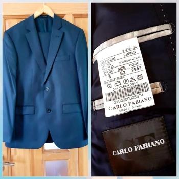Carlo Fabiano firması 52 ölçü pencək-şalvar cəmi 1 dəfə