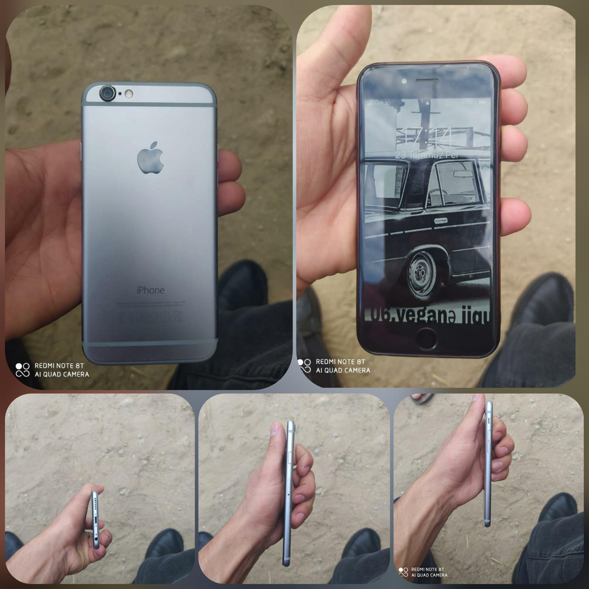 İphone 6s 16 fb yaddaş barmaq izi işləmir. Başqa  heçnə problemi yoxdur. Qiymət: 250m Ünv: Mastaga .q