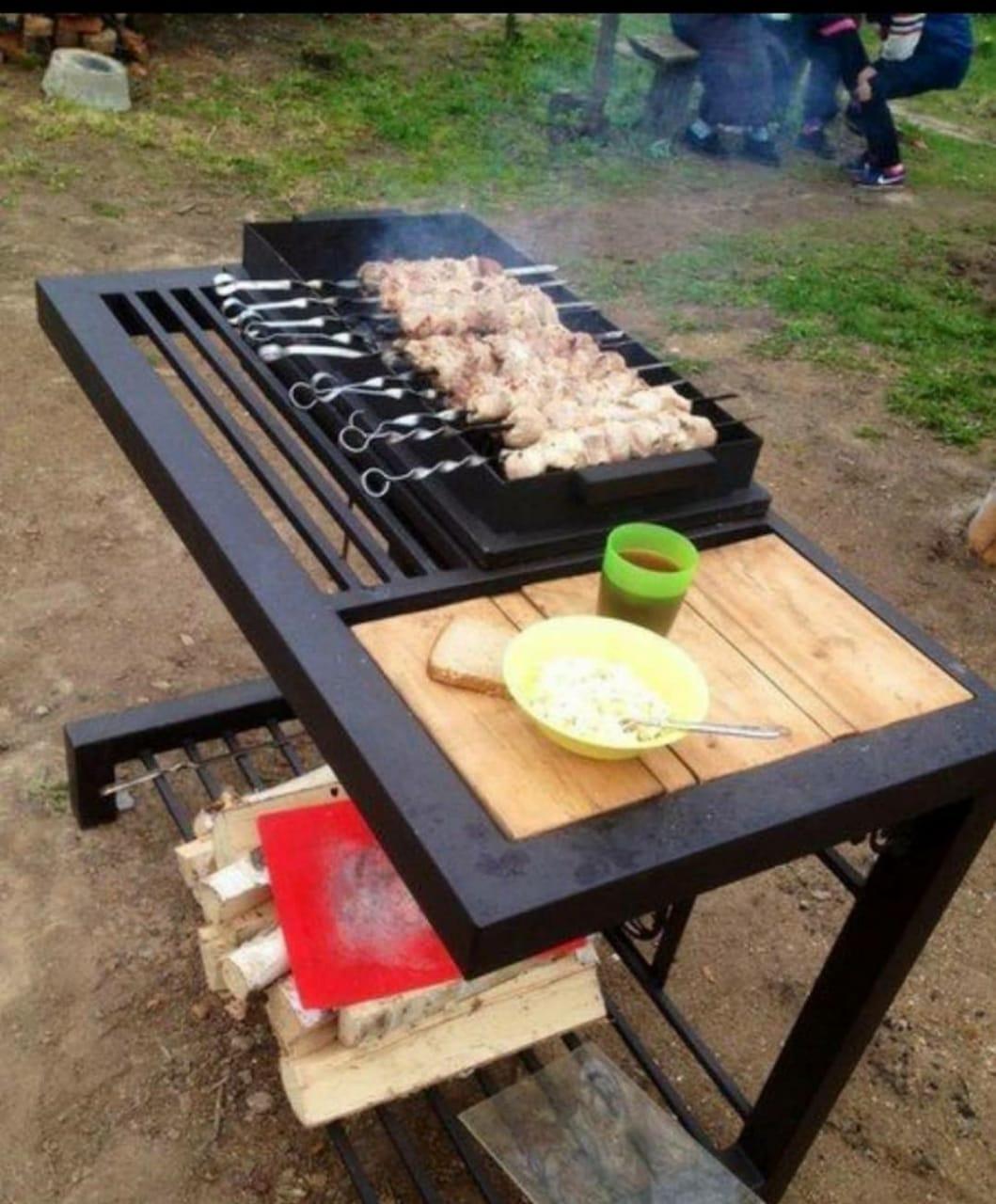 Stol ustu manqal, Piknik masa, piknik masası, manqal,