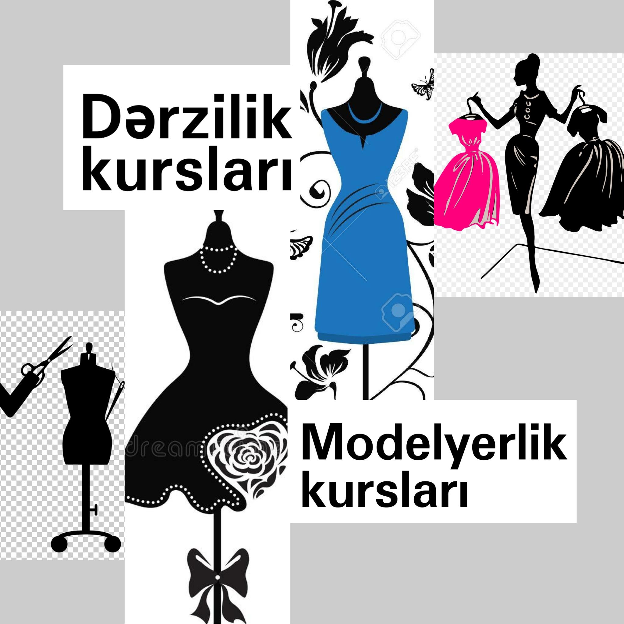 Dərzilik, Modelyerlik kursları: Dərzilik kursuna daxildi;