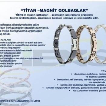 """""""Titan Maqnit Müalicəvi Biomaqnit Qolbaqları""""-(Tam"""