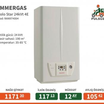 İstilik gücü: 24 kVt Təsir sahəsi: 190 m2 Temperatur: