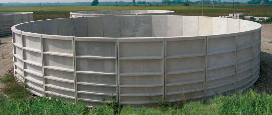 Su anbari. Dəmir-beton çənləri, demir-beton cenlerinin