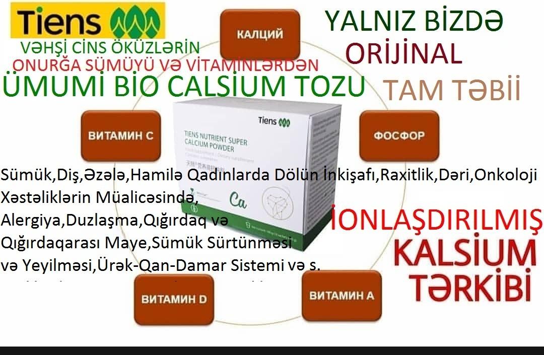 """""""Bio Calsium Tozu""""-Ümumi Her Kesin İstifadesi Üçün"""