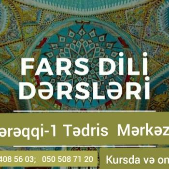 Online və kursda fars dili kursu Dərslər həftədə 3 dəfə 1