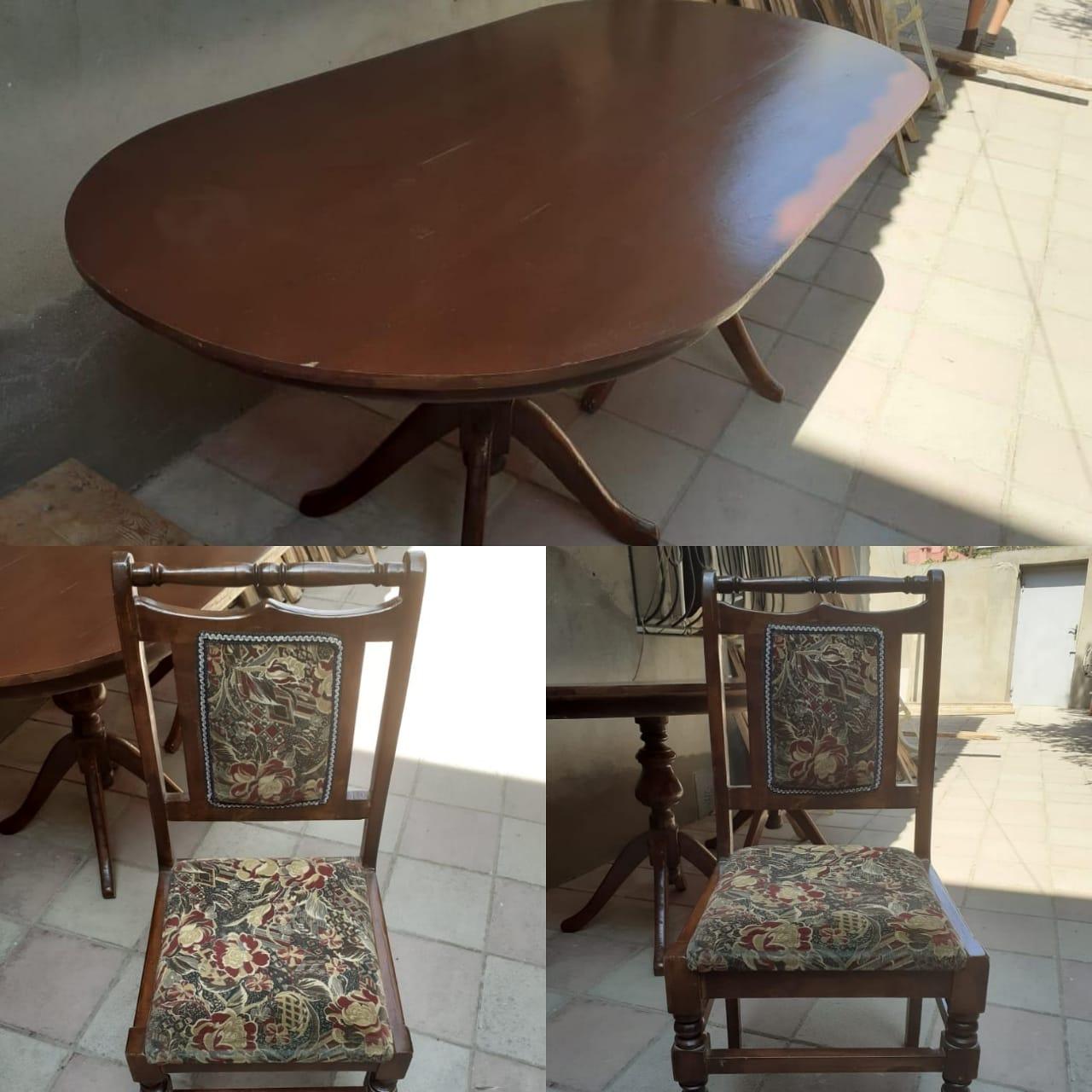 Stol+6stul 170 ₼ satılır. Masa açılmır. Ərazi Əmircan.