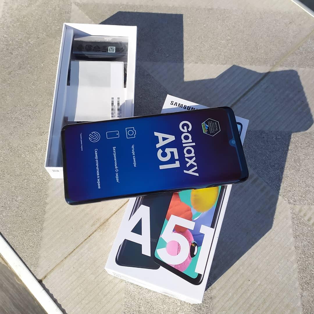 Galaxy A51 Təzə Telefondur. 2 Günün Telefonudur. Nömrə belə