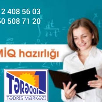 """MİQ imtahanlarına kursda və online hazırlıq """"MÜƏLLİM OLMAQ"""