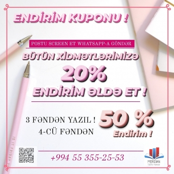 MERIDIAN TƏDRİS MƏRKƏZİ Screen et, WHATSAPP-A göndər! 20%,