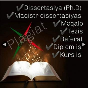 Dissertasiya, magistr dissertasiyası, məqalə, tezis,