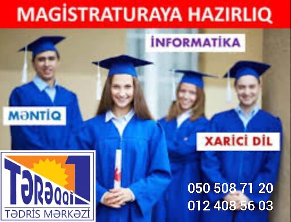 Magistraturaya kursda və online hazırlıq Məntiq İnformasika