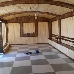 Sauna Mansart pillekan pol parket islerin gorulmesi