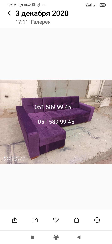 Kunc divanlar satilir 350man ve her cur olcu ve rengde tel