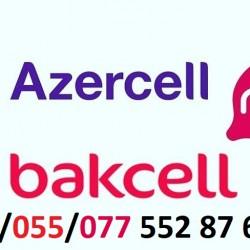 Azercell Bakcell Nar Paket nömrə(050) /(055)/ (077)