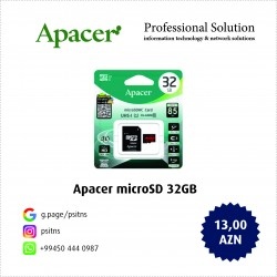 Карта памяти Apacer 32GB microSDHC C10 UHS-I R85MB/s + SD