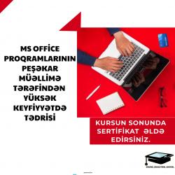 Online hazırlıq kursumuzda Microsoft Office proqramlari