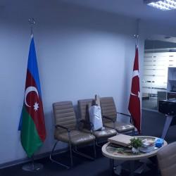 1x2 metreye Azərbaycan bayraqi iki qat atlas 35 azn 1x2