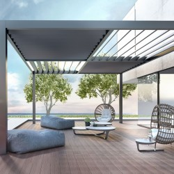 Acilib baglanan tavan. Cam balkon. Terras ortukleri, terras