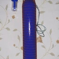 Oksigen balonu 10 lt + reduktur ilə satılır. Aptekdən
