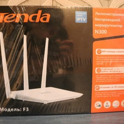 Tenda N-300 Model3 modemi satılır. Fiber-optikdir. Təzədir.