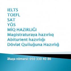 IELTS TOEFL SAT YÖS MİQ MAGİSTR Abiturient hazirliğı IELTS