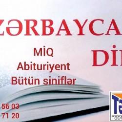 Azərbaycan dili hazırlığı Abituriyentlərə Məktəb fənni MİQ