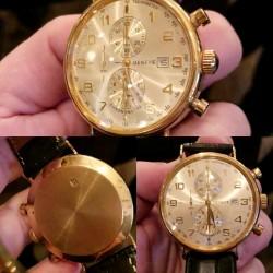 Geneve firması qızıl saat çox az işlənib. Əyarı 750 təmiz